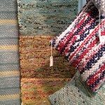 Loominaries rag rugs and pillows at NYIGF