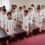 Preschool Students Singing National Anthem