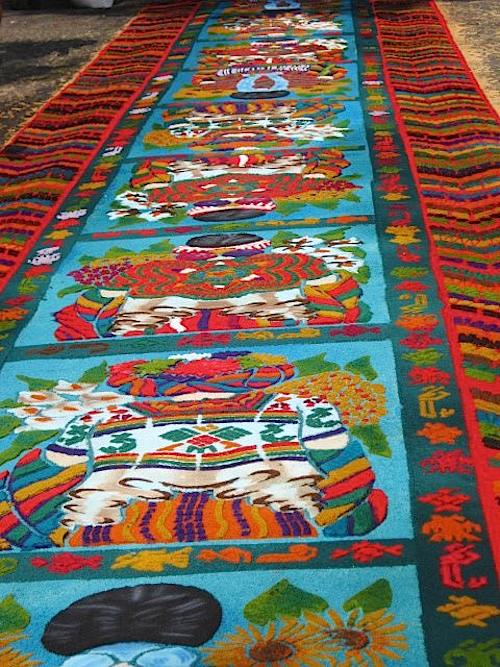 Guatemalan alfombras carpets street decorations for for Antigua alfombras