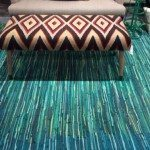 NEW Design Legacy Blue/Green Rag Rug at Las Vegas Market