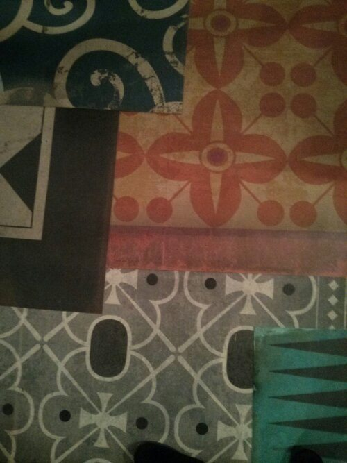 new vintage vinyl floor cloths from spicher&company at
