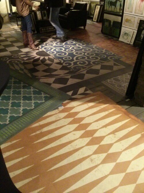New Vintage Vinyl Floor Cloths From Spicher Amp Company At