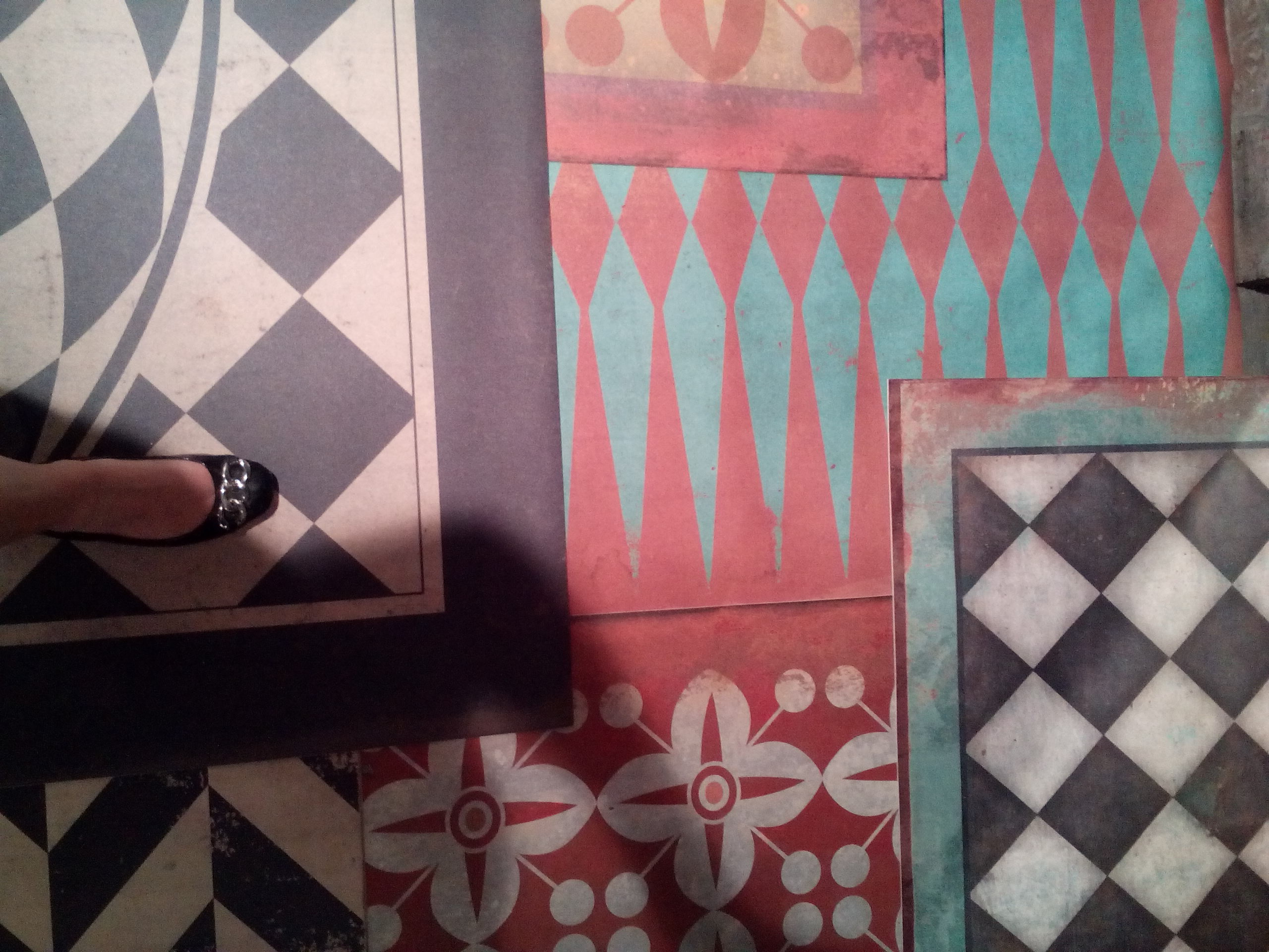 new vintage vinyl floor cloths from spicher and company at