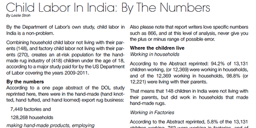 Child Labor In India: By The Numbers