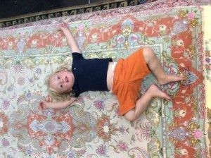 I asked this 2yr old to pick a rug to sit on. He picked this one