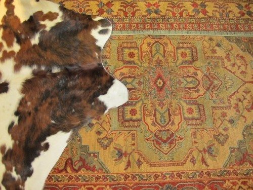 Traditional rug meets Rawhide
