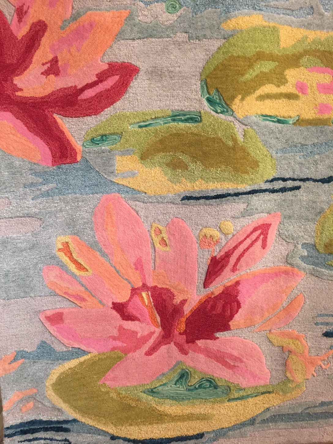 Company C Unique Water Lilies Rug At Americasmart Rug