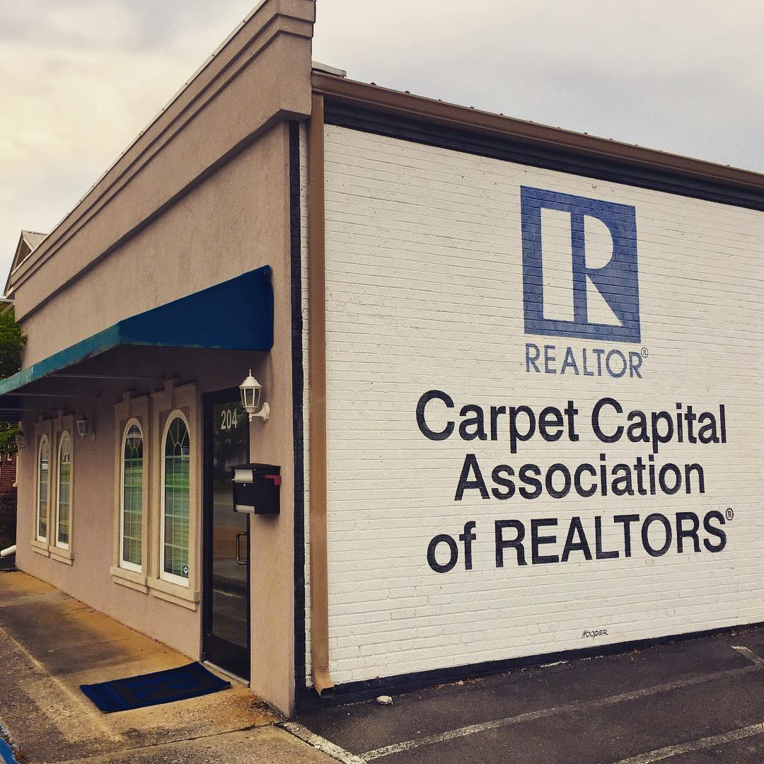 You know we are in the carpet capital, Dalton Georgia, when the realtors association is onboard. Swinging by Dalyn Rugs in the morning