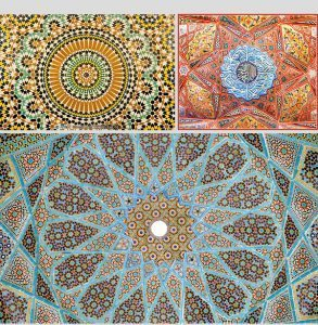 """""""knot making"""") or girih chīnī (گره چینی), is an Islamic decorative art form used in architecture and handicrafts (book covers, tapestry, ..."""