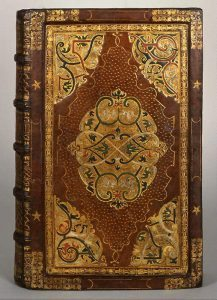 Magdeburg, 1572, cover. Painted, gilt-embossed leather