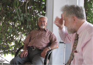 Leslie Stroh and Geoffrey Seager recalling old times at E. Hill – 2009
