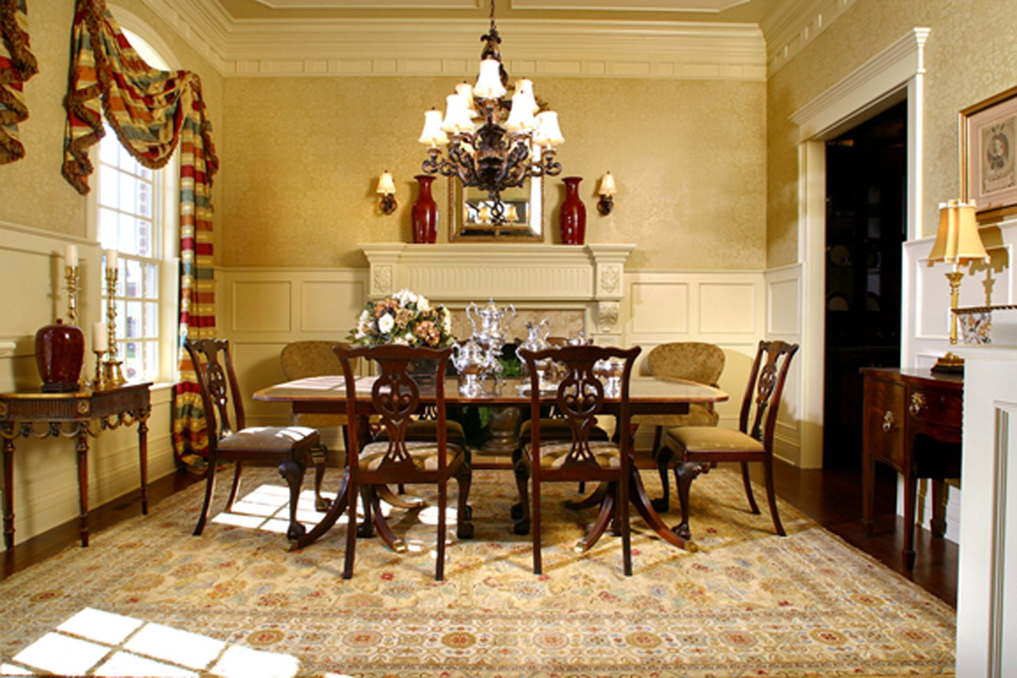 Selecting the correct rug size for your dining room rug for Dining room rug size