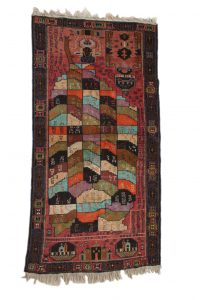 Rug with Map of Afghanistan Knotted wool, Afghanistan Acquired in Mazar-i Sharif , 2006