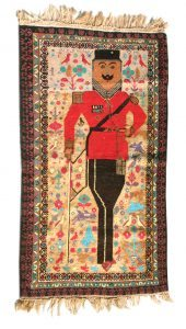 Portrait Rug (Amanullah Khan) Knotted wool, Afghanistan Acquired in Zurich (Switzerland), 1980s1980s<br />