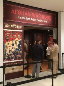 The entrance to Afghan War Rugs exhibit.