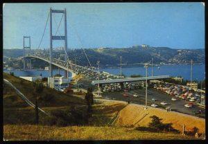 Postcard of the Bosphorus Bridge Istanbul