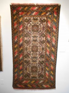 War Rug with Helicopters Knotted wool, Western Afghanistan Acquired in Peshawar (Pakistan), 2007