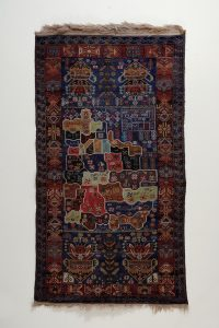 Rug with Map of Afghanistan Knotted wool, Western Afghanistan Acquired in Peshawar (Pakistan), 20066