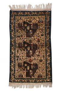 Rug with Geisha Knotted wool, Western Afghanistan or Southeastern Iran (Sistan) Acquired in Herat 1998