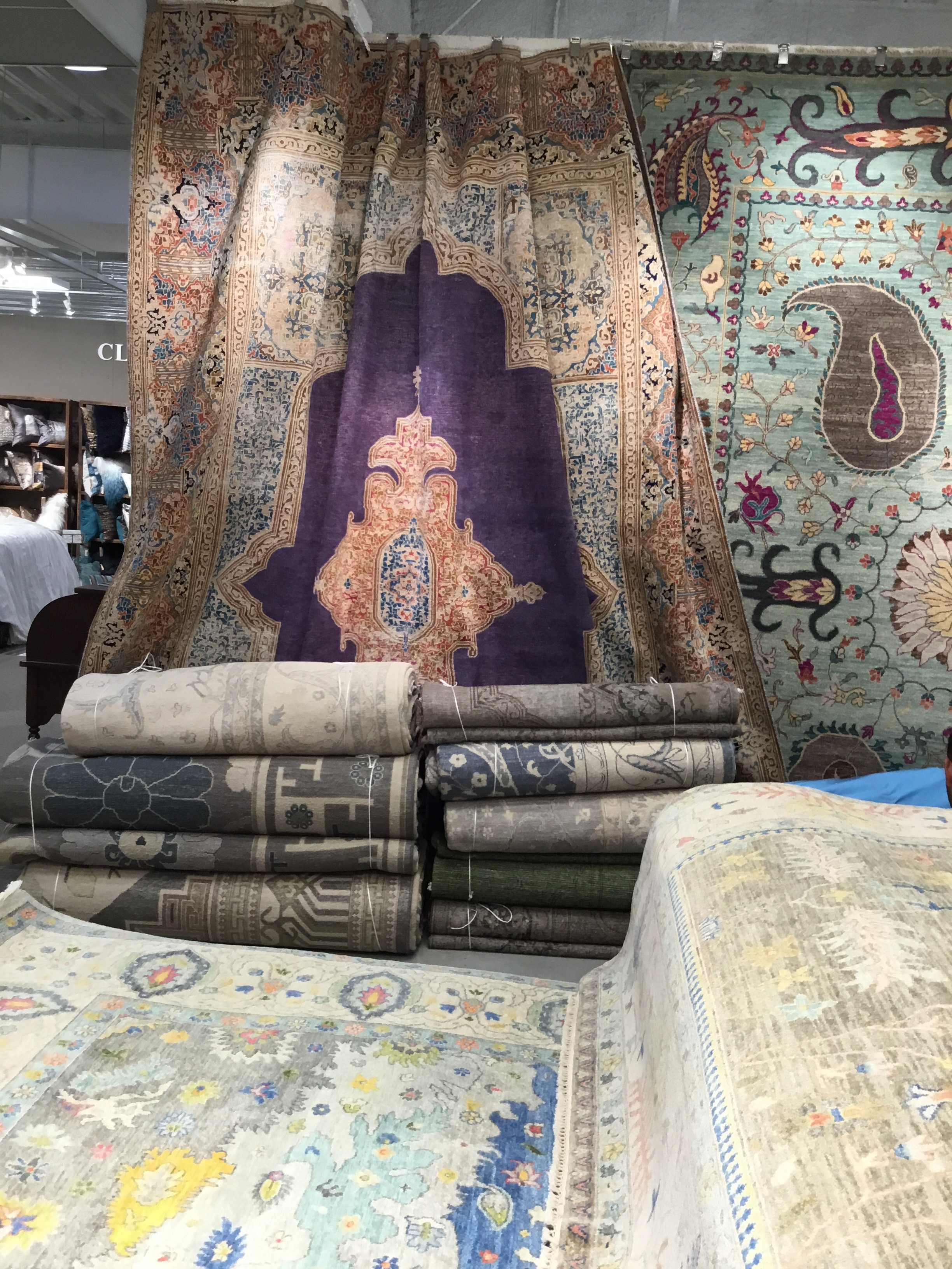 F J Kashanian Displays Not Your Usual Over Dyed Rug At