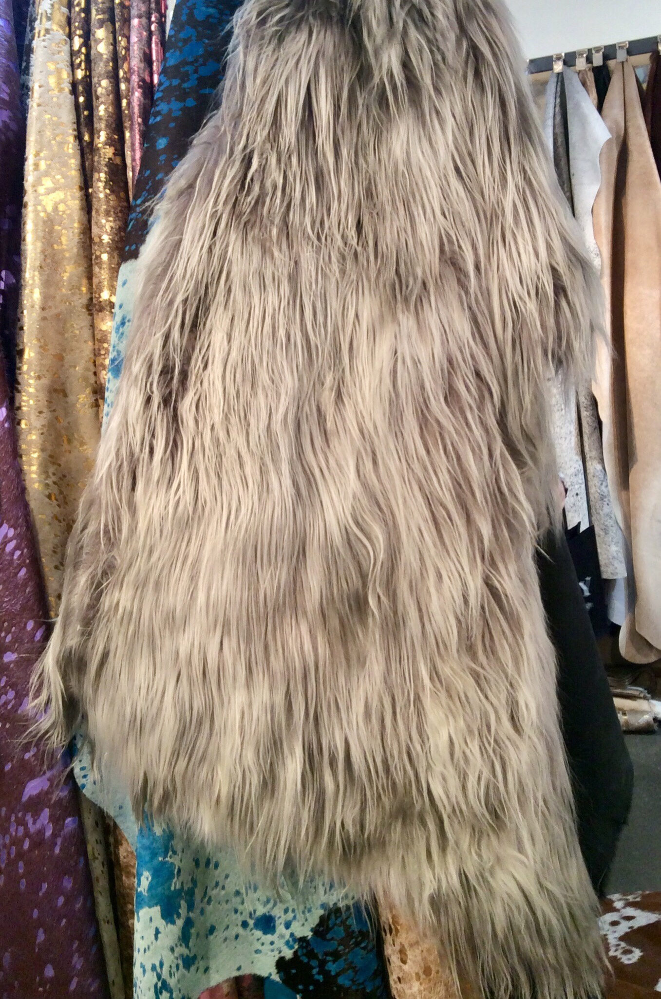Chesterfield Leather New Long Haired Mountain Goat At Las